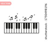 piano day  keyboard and keys.... | Shutterstock .eps vector #1750498196