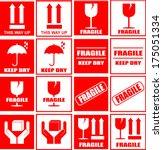 packaging stickers | Shutterstock .eps vector #175051334