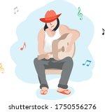 Illustration Of A Guitarist....