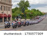 Small photo of Ogden, Utah / United States - June 6 2020: Heroic fallen Officer Nate Lyday is laid to rest as the City of Ogden, Utah gathers to pay tribute to his service to the community.