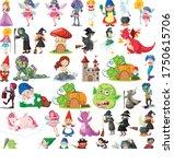 set of fantasy cartoon... | Shutterstock .eps vector #1750615706
