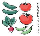 hand drawn farm produce ... | Shutterstock .eps vector #1750638323