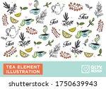 english tea illustration... | Shutterstock .eps vector #1750639943