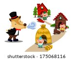 three little pigs | Shutterstock .eps vector #175068116