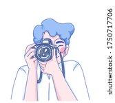 photographer man character... | Shutterstock .eps vector #1750717706