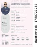 professional and modern resume  ... | Shutterstock .eps vector #1750723256