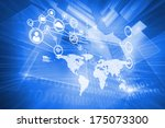 technology interface against... | Shutterstock . vector #175073300