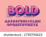 3d bold typography design vector | Shutterstock .eps vector #1750743623
