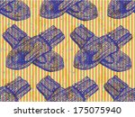 knitted mittens  sketch... | Shutterstock .eps vector #175075940