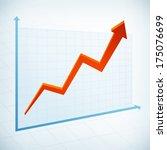 positive business graph width... | Shutterstock .eps vector #175076699