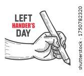 left handers day. august 13th.... | Shutterstock .eps vector #1750782320