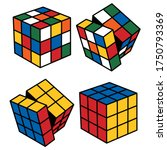 magic cube with rotated sides | Shutterstock .eps vector #1750793369