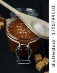 Glass Jar Of Salted Caramel...