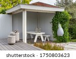 White Wooden Terrace With...