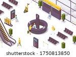 isometric vector scene with... | Shutterstock .eps vector #1750813850