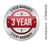 red metallic three year... | Shutterstock .eps vector #175086320