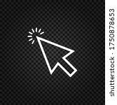 cursor linear icon.mouse cursor ...   Shutterstock .eps vector #1750878653