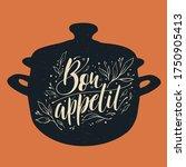 bon appetit typography vector... | Shutterstock .eps vector #1750905413