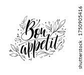 bon appetit typography vector... | Shutterstock .eps vector #1750905416