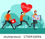 vactor art about health care.... | Shutterstock .eps vector #1750910096