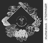 hand drawn mushroom design... | Shutterstock .eps vector #1750944689
