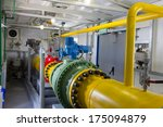 pipes of thermal power plant | Shutterstock . vector #175094879
