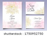 beautiful floral wedding...   Shutterstock .eps vector #1750952750