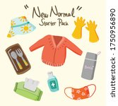 healthy new normal starter set... | Shutterstock .eps vector #1750956890