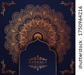 luxury mandala background with... | Shutterstock .eps vector #1750964216