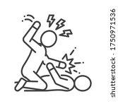 physical bullying black line... | Shutterstock .eps vector #1750971536