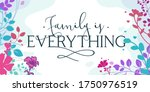 family home quotes family is... | Shutterstock .eps vector #1750976519