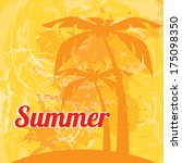 summer design over  orange ... | Shutterstock .eps vector #175098350