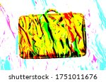 3d A Yellow Suitcase To Leave