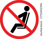 no sitting. do not sit on...   Shutterstock .eps vector #1751042396