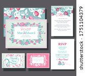 wedding invitations card with... | Shutterstock .eps vector #1751104379