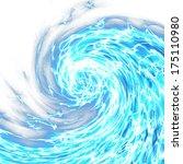 abstract foaming ocean wave   Shutterstock . vector #175110980