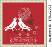 greeting card for valentine's... | Shutterstock .eps vector #175112006