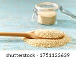 Sesame Seeds  In A Wooden Spoon ...