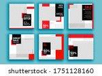 set of sale banner template... | Shutterstock .eps vector #1751128160