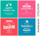 set of four happy valentine's... | Shutterstock . vector #175114154