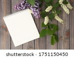White Notebook And Branches Of...