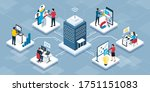 professional business people... | Shutterstock .eps vector #1751151083