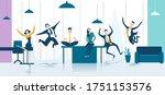 business people celebrating... | Shutterstock .eps vector #1751153576