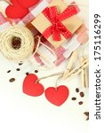 valentine's composition with...   Shutterstock . vector #175116299