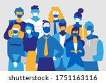 a team of men and women wearing ... | Shutterstock .eps vector #1751163116