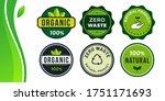 vector eco labels set. round... | Shutterstock .eps vector #1751171693