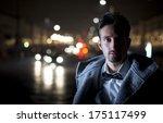 attractive young man portrait... | Shutterstock . vector #175117499