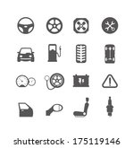 car parts  icons 3 | Shutterstock .eps vector #175119146