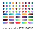 60 gradient button set isolated ...