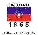 Juneteenth Flag 1865 Poster  T...